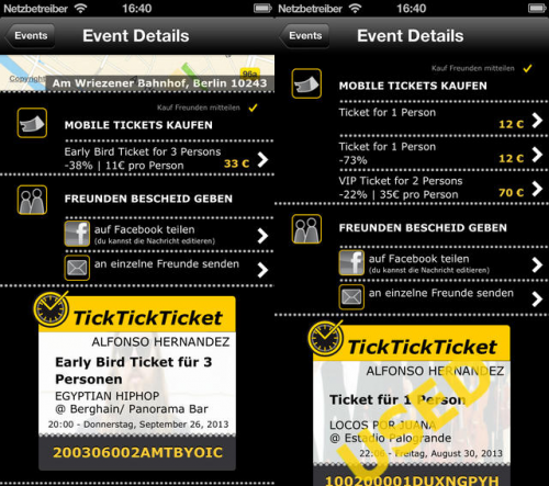 TickTickTickets Screen2