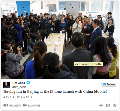 Tim Cook China Mobile Launch