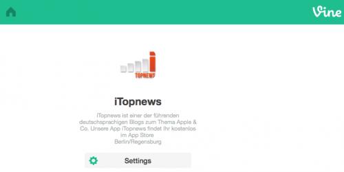 Vine Profilseite iTopnews