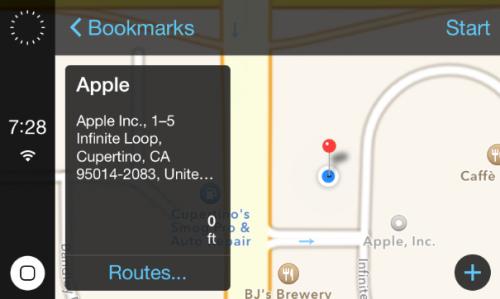 iOS 7 in the car neu