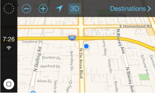 iOS 7 in the car neu Ansicht