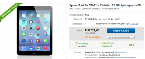 iPad Air Deal