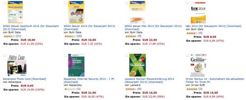 Amazon Software Aktion