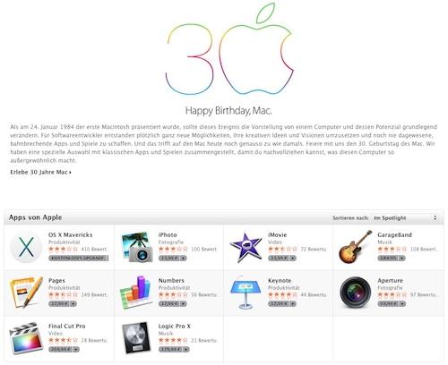 Apple Mac App Sonderseite