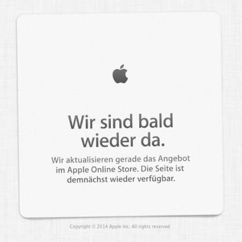 Apple Online Store Down