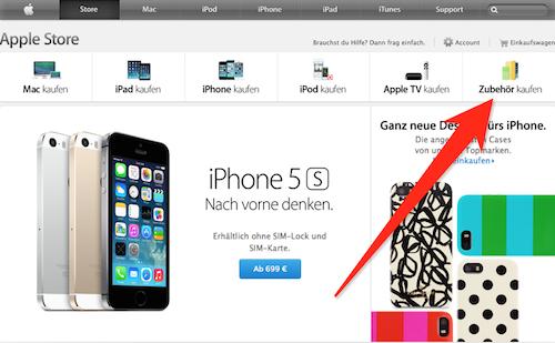 Apple Online Store neuer Reiter Zubehoer