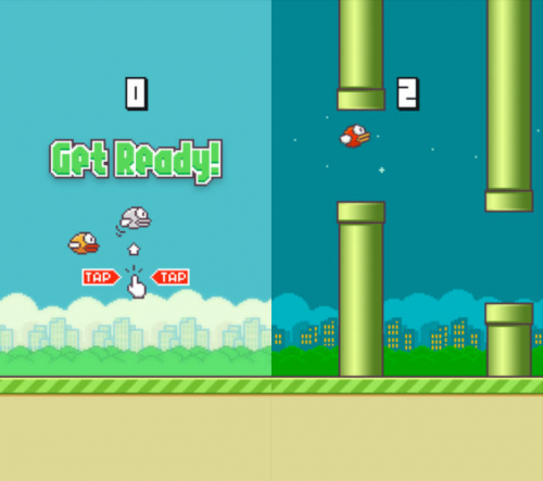 Flappy Bird Update Screen