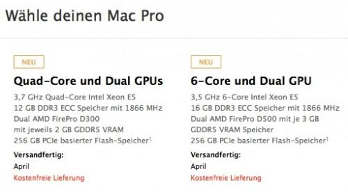 Mac Pro Versand