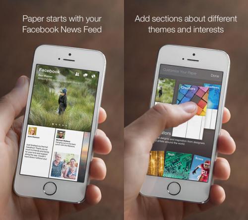 Paper Facebook Screen