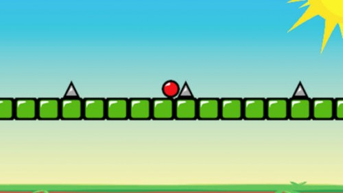 Red Boundcing Ball Spikes Screen