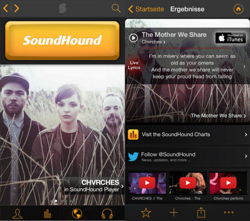 SoundHound Screen