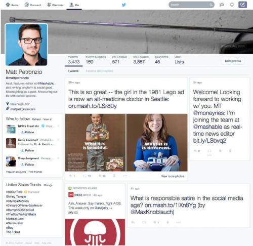 Twitter Redesign mashable.com