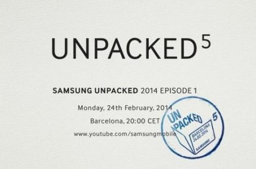 Unpacked Samsung Logo S5