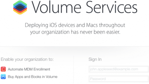 iOS 7.1. Volume Services