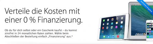 Apple Online Store Finanzierung