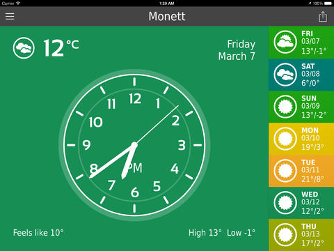 ClearWeather Screen2