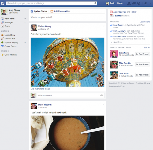 Facebook Timeline Neu