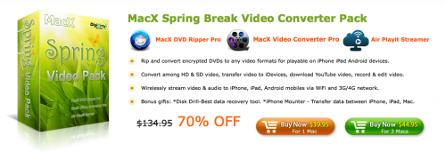 MacX Spring Break Video Converter Pack