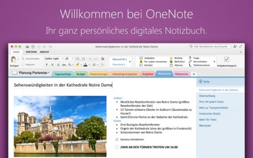 Microsoft OneNote Screen1