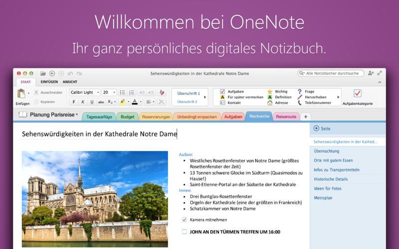 Microsoft OneNote Screen1