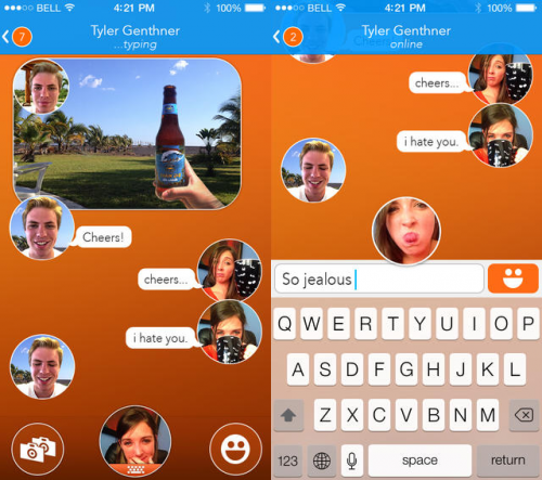 React Messenger Screen1