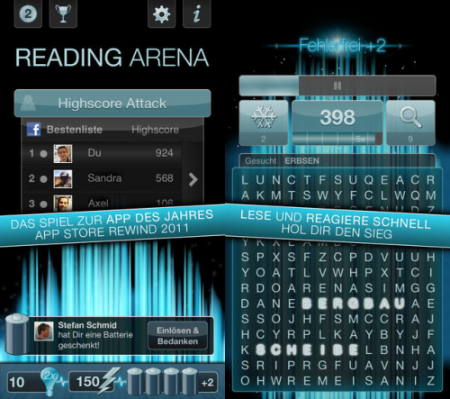 Reading Arena Screen1
