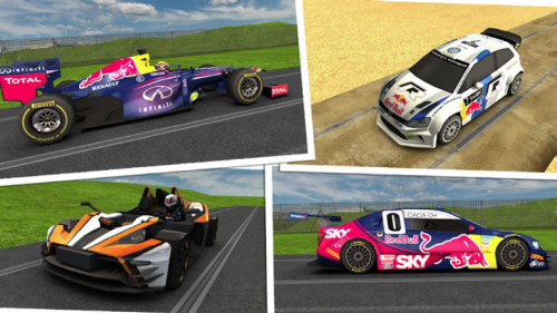Red Bull Racers Fahrzeuge