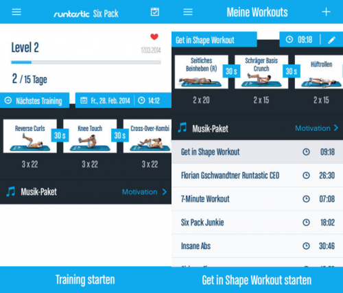 Runtastic Six Pack Screen2