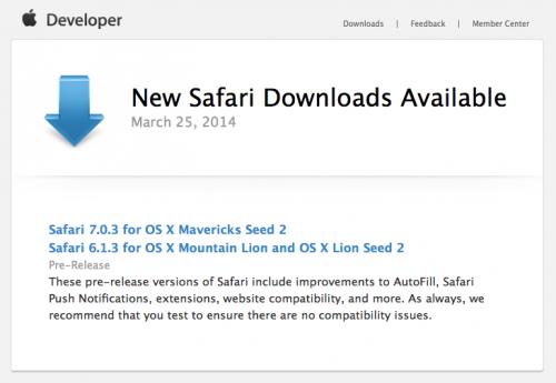 Safari 7.0.3 Beta 2