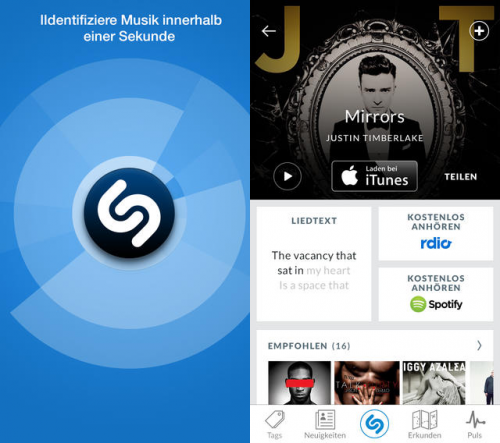 Shazam Screen neu