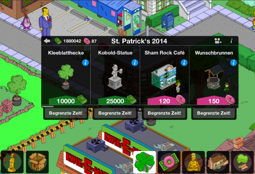 Simpsons Springfield St Patricks Day