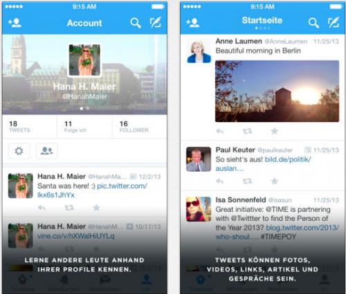 Twitter Ansicht neu