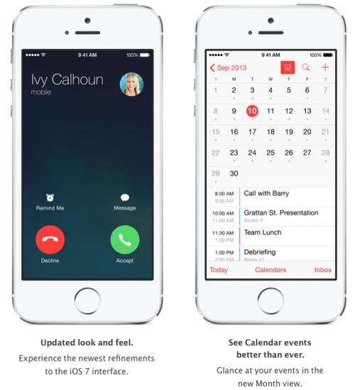 iOS 7.1 Ansicht 2