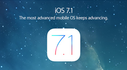 iOS 7.1 Website Ansicht
