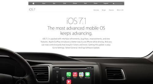 iOS 7.1 Website USA