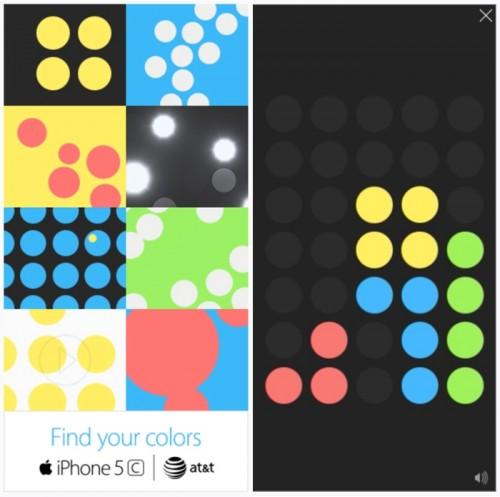 iPhone 5c Werbung Kreise