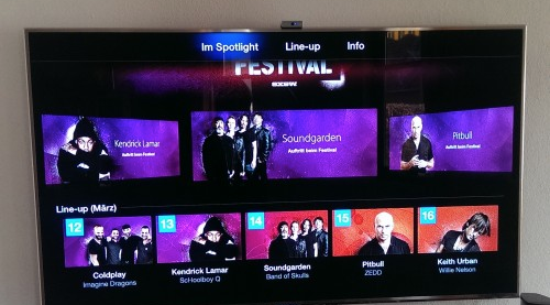 iTunes Festival 2014 auf Apple TV