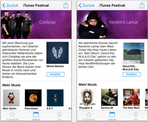 iTunes Festival App neu