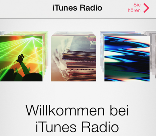 iTunes Radio Screenshot Deutschland