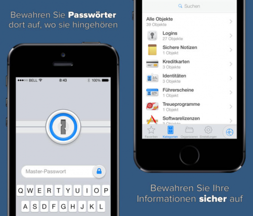 1Password Screen iOS7