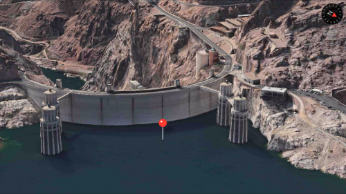 Apple Maps Hoover Dam 3D