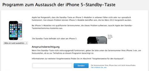 Apple Support Standby Taste