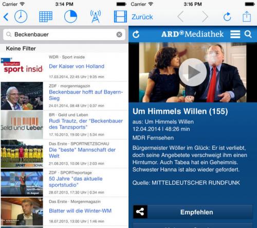 Fernsehsuche die Mediathekenuebersicht Screen2