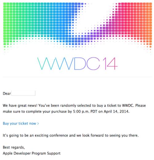 Gewinner WWDC 2014 Ticket