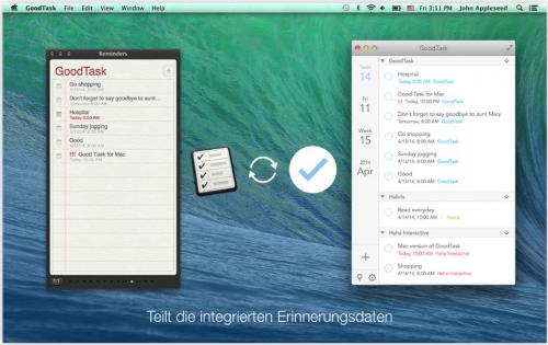 Good Task Mac Ansicht