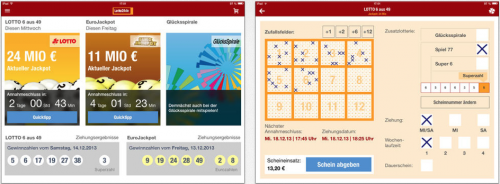 Lotto24.de iPad Ansicht