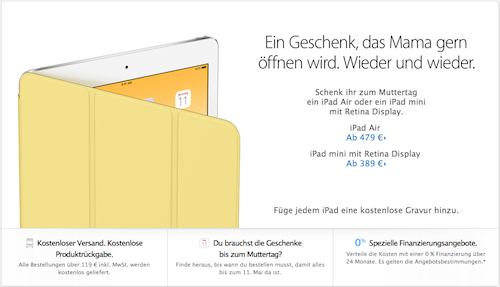 Muttertag Apple Online Store