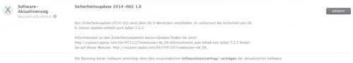 OS X Sicherheits Update 22 04 2014