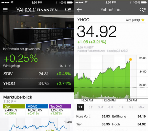 Yahoo Finanzen Screen1