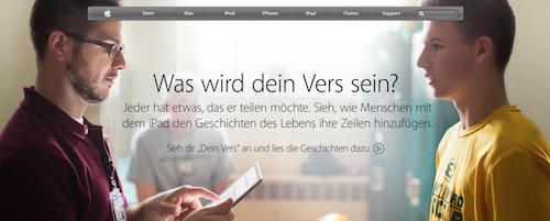 Your Verse Werbung Apple